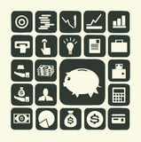 Finanzierung und Geldikone Lizenzfreies Stockfoto