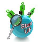 Finanzierungs-Start Suchgeld von den Investoren für neues Geschäft Stockfoto
