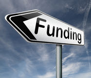 Finanzierungsspendenaktions-Verkehrsschild Stockfotografie