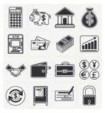 Finanzikonen eingestellt Lizenzfreie Stockfotos