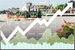 Finanzindex auf Lager der Wassertransportindustrie Lizenzfreie Stockfotografie