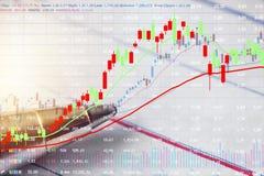 Finanzinvestition im Börsekonzept lizenzfreie stockfotos