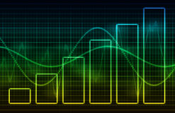 Finanzkalkulationstabellen-Diagramm-Daten lizenzfreie abbildung