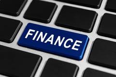Finanzknopf auf Tastatur Lizenzfreies Stockbild