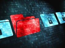 Finanzkonzept: auf digitalem Hintergrund Lizenzfreie Stockbilder