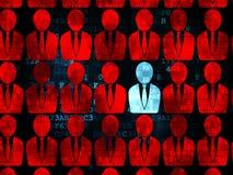Finanzkonzept: blaue Geschäftsmannikone auf Digital Lizenzfreie Stockbilder
