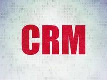 Finanzkonzept: CRM auf Digital-Daten-Papierhintergrund stock abbildung