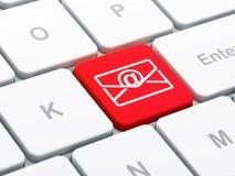 Finanzkonzept: E-Mail auf Computertastatur Lizenzfreies Stockbild
