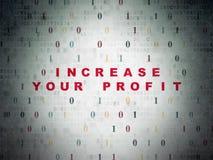 Finanzkonzept: Erhöhen Sie Ihren Gewinn auf digitalem Lizenzfreie Stockfotografie