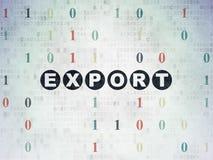 Finanzkonzept: Export auf Digital-Daten-Papierhintergrund vektor abbildung