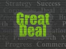 Finanzkonzept: Großes Abkommen auf Wandhintergrund lizenzfreie abbildung