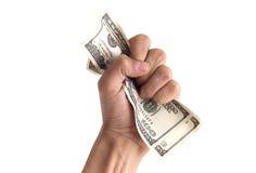 Finanzkonzept - Hand mit Geld Lizenzfreie Stockfotos