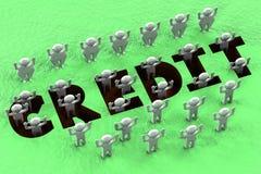 Finanzkonzept - Kreditgrube Lizenzfreie Stockfotografie