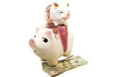 Finanzkonzept/Piggy Querneigungen Stockfotografie