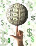 Finanzkonzept - Regnen des Geldes Lizenzfreie Stockfotografie