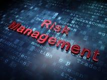 Finanzkonzept: Rotes Risikomanagement auf digitalem Hintergrund Lizenzfreies Stockfoto