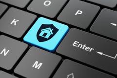 Finanzkonzept: Schild auf Computertastaturhintergrund Lizenzfreie Stockfotografie