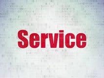 Finanzkonzept: Service am Digital-Daten-Papierhintergrund lizenzfreie stockfotos