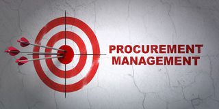 Finanzkonzept: Ziel und Beschaffungs-Management Stockfoto