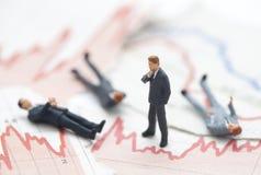 Finanzkrise Stockfoto