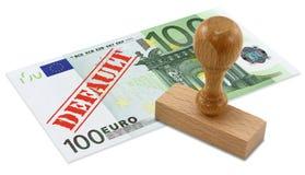 Finanzkrise des Eurozone lizenzfreie stockbilder