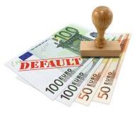 Finanzkrise des Eurozone stockbild