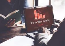 Finanzkrise-Krisen-Ausfall-Abnahme-Konzept lizenzfreies stockbild