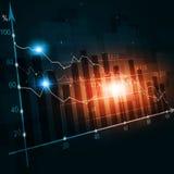Finanzkrisen-Diagramm-Hintergrund Lizenzfreie Stockfotos