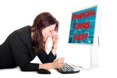 Finanzkrisewarnung Lizenzfreies Stockbild