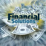 Finanzlösungen lizenzfreies stockfoto