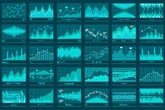 Finanzlinie Diagramm-Geschäfts-Vektor-Fahne stock abbildung