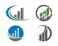 Finanzlogo Lizenzfreie Stockfotos