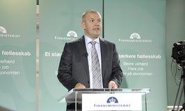 FINANZMINISTER DENMARK_BJARNE CORYDON DANIOSH Lizenzfreies Stockfoto