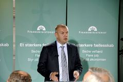 FINANZMINISTER DENMARK_BJARNE CORYDON DANIOSH Stockfoto