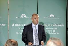 FINANZMINISTER DENMARK_BJARNE CORYDON DANIOSH Stockfotografie