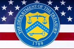 Finanzministerium Vereinigter Staaten lizenzfreie stockfotos