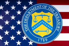 Finanzministerium Vereinigter Staaten stockbild