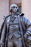 Finanzministerium-Washington DC Albert Gallatin Statues US lizenzfreie stockfotos