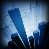 Finanznotfall-Diagrammhintergrund Stockfotografie