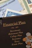 Finanzplan Stockfoto