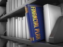 Finanzplan - Titel des Buches Konzept Lizenzfreies Stockbild
