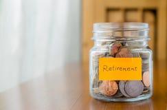 Finanzplan, zum des Ruhestandsgeldes zu sparen Stockfoto