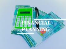 Finanzplanungskonzept Geldwährungsausdehnungen lizenzfreies stockfoto