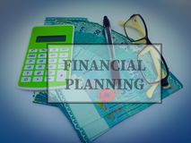 Finanzplanungskonzept Geldwährungsausdehnungen lizenzfreie stockfotos