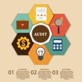 Finanzprüfer Infographic Vektor stock abbildung