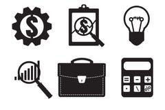 Finanzprüferikone Wirtschaftliche Statistikikone Vektor illustr stock abbildung