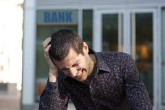 Finanzprobleme mit der Querneigung lizenzfreie stockfotos