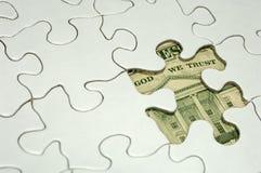 Finanzpuzzlespiel stockbild