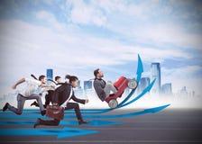 Finanzrennen Stockfoto