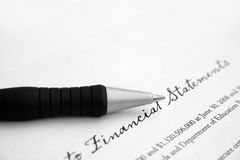 Finanzreport Lizenzfreie Stockfotografie